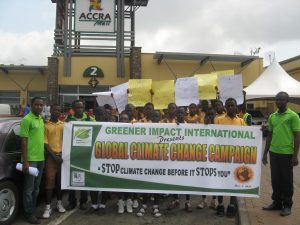 A day of action against climate change in Ghana 1